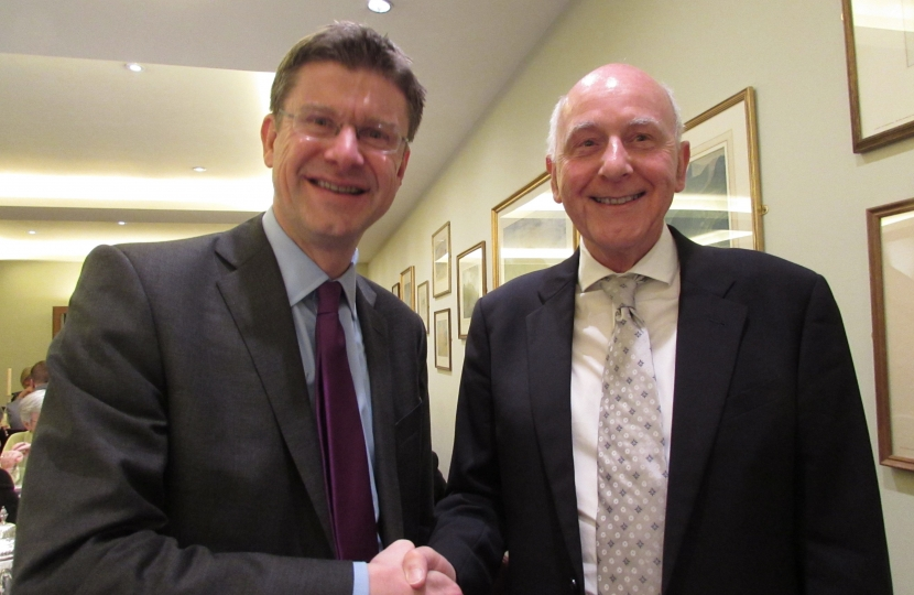 Councillor Julian Stanyer with Greg Clark MP