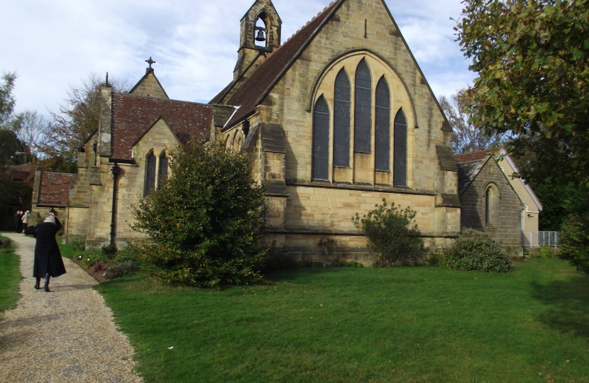 The beautiful church of All Saints', Langton Green