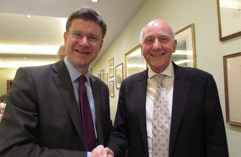 Julian launches his campaign with Greg Clark MP