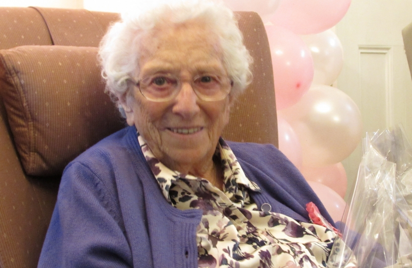 Mrs Rene Day on her 100th Birthday