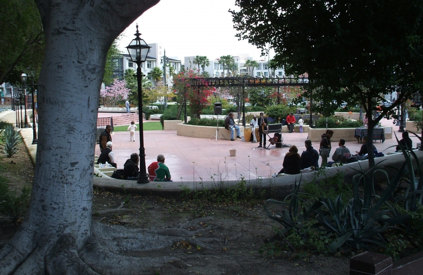 A typical town square